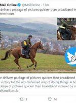 ارسال عکس با اسب سریعتر از اینترنت!