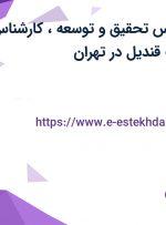 استخدام کارشناس تحقیق و توسعه، کارشناس صنایع در بهشت قندیل در تهران