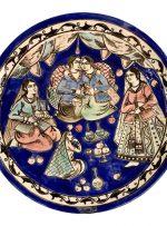 چهره نگاری قاجاری روی بشقاب سفالی شبیه سازی شد