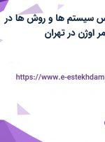 استخدام کارشناس سیستم ها و روش ها در شرکت پایدار پلیمر اوژن در تهران