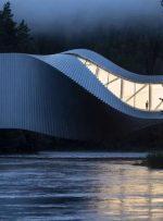 موزه مارپیچی که دو رودخانه را به یکدیگر وصل میکند