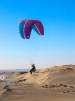 پرواز «پاراگلایدرها» بر فراز کویر یزد