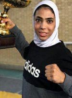 ورزشکار زن جریمه مهاجم پرسپولیس را گردن گرفت/عکس