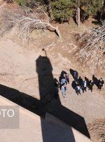 ویرانهای باشکوه در محاصره ریگهای روان اشکذر