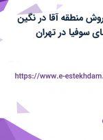 استخدام مدیر فروش منطقه آقا در نگین صنعتی جنوب (چای سوفیا) در تهران