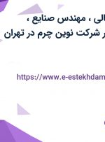 استخدام مدیر مالی، مهندس صنایع، کارشناس hse در شرکت نوین چرم در تهران