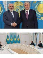 رئیس جمهور قزاقستان به ظریف: ایران شریک کلیدی ما است