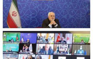 ظریف در نشست دی8 شرکت کرد