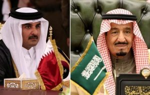گفتگوی جداگانه امیرقطر با شاه سعودی و بن سلمان