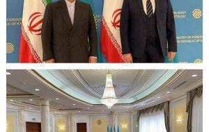 ظریف با وزیرخارجه قرقیزستان دیدار کرد