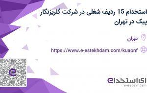 استخدام 15 ردیف شغلی در شرکت گلریزنگار پیک در تهران