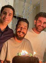 عکس   تبریک تولد بهرام افشاری به سبک نوید محمدزاده و هوتن شکیبا