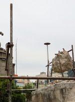 ویدئو / آخرین وضعیت شیر تخریب شده میدان حر