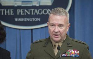 ژنرال مککنزی نگران اتحاد ایران،روسیه و چین است