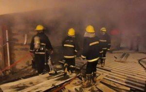 آتش سوزی در پایگاه هوایی ناصریه عراق