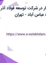 استخدام حسابدار در شرکت توسعه فولاد آذر آذین در محدوده عباس آباد- تهران