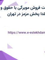استخدام سرپرست فروش مویرگی با حقوق و مزایای عالی در یلدا پخش مزمز در تهران