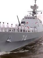 تصاویر | حضور ناوشکن «سهند» در رژه دریایی روسیه