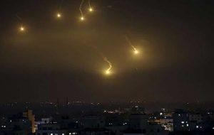 مقابله پدافند هوایی سوریه با حمله هوایی اسرائیل