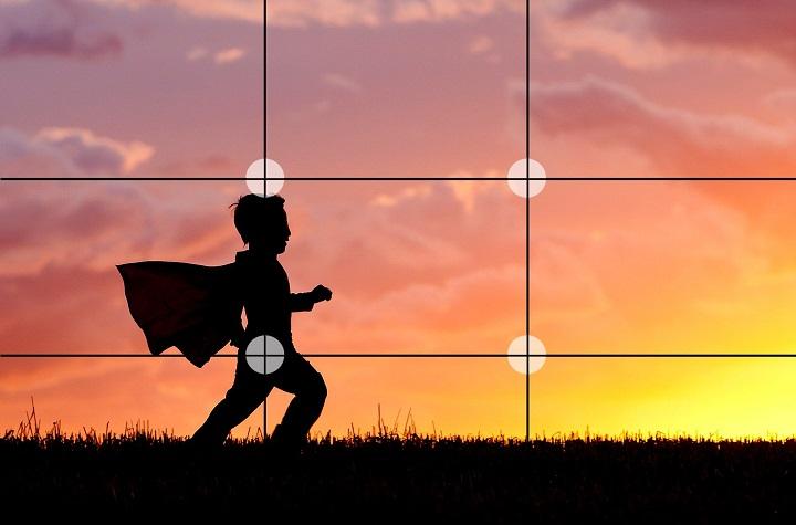 خطوط قانون یک سوم از نکاته پایه ای آموزش عکاسی