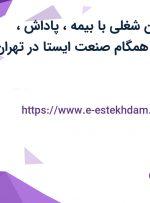 استخدام 7 عنوان شغلی با بیمه، پاداش، عیدی در شرکت همگام صنعت ایستا در تهران