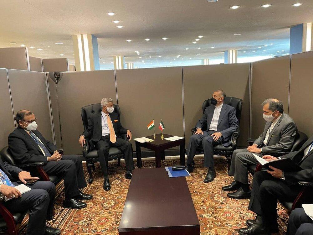 امیرعبداللهیان با وزیرخارجه هند دیدار کرد