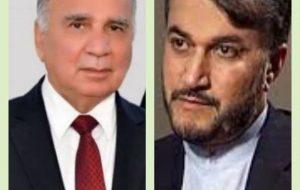 گفتگوی تلفنی وزیران خارجه ایران و عراق