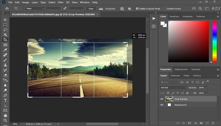آموزش ادیت عکس و کراپ کردن تصاویر در فتوشاپ