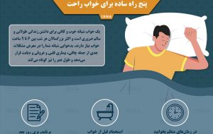 اینفوگرافیک / پنج راه ساده برای خواب راحت