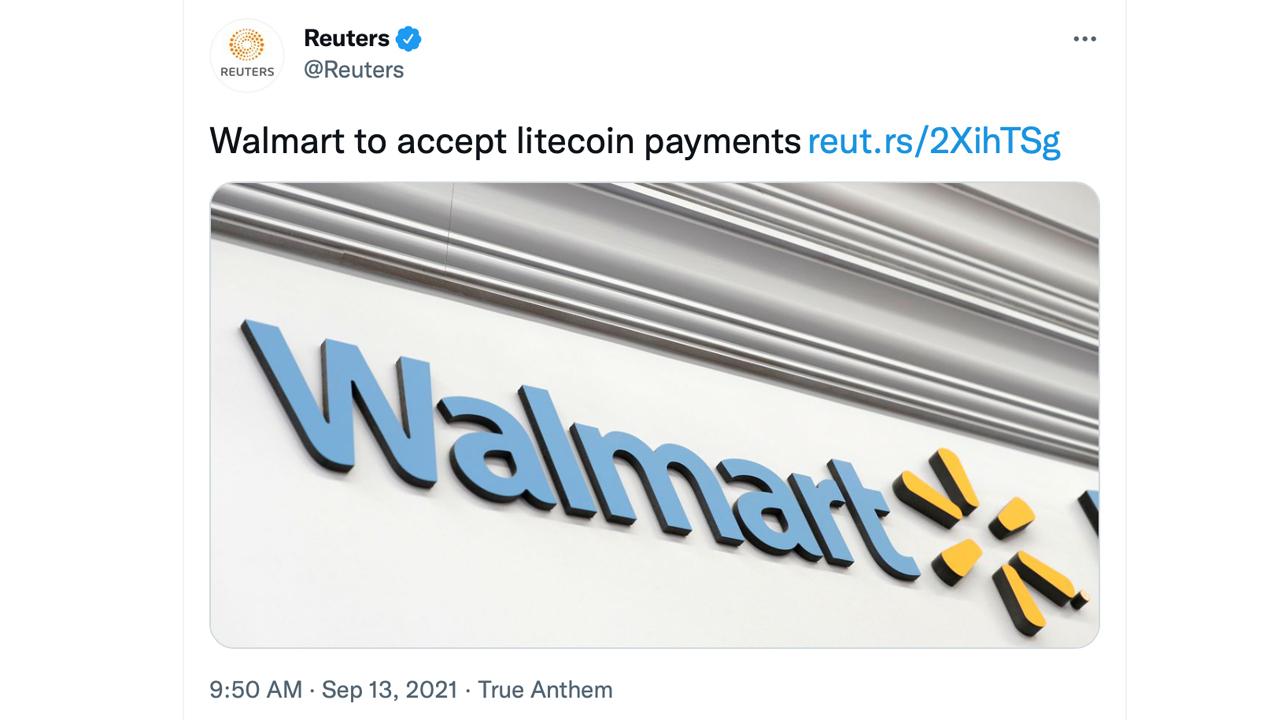 حذف اخبار پرداخت Walmart و Litecoin توسط سخنگوی Walmart ، قیمت LTC از اخبار جعلی تکان می خورد