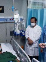 بازدید وزیر بهداشت از مراکز درمانی بیماران مبتلا به کرونا در کرمانشاه