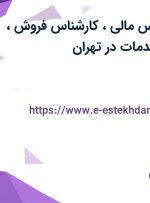 استخدام کارشناس مالی، کارشناس فروش، مسئول دفتر، خدمات در تهران