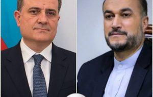 امیرعبداللهیان در گفتگو با وزیرخارجه جمهوری آذربایجان: نباید به دشمنان فرصت اختلال در مناسبات تهران و باکو را داد